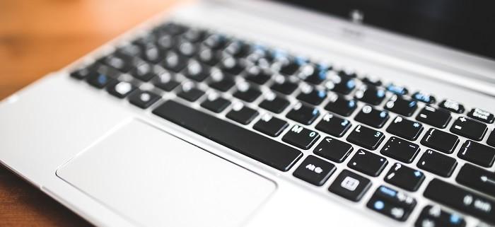 a laptop keyboard