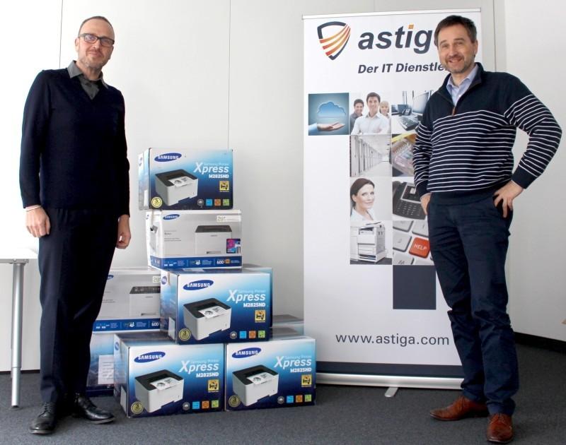Druckerübergabe Fazit GmbH